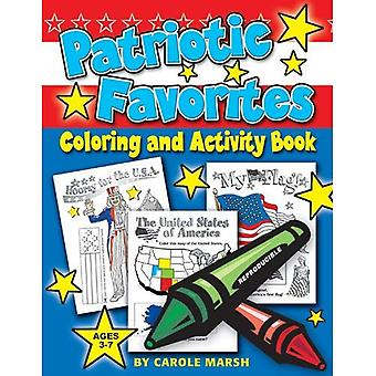Patriotische Favoriten-Färbung und Aufgabenbuch