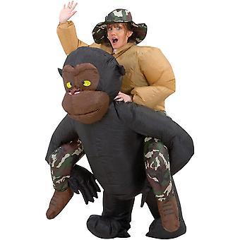 Puhallettava Ratsastus Gorilla aikuisten puku