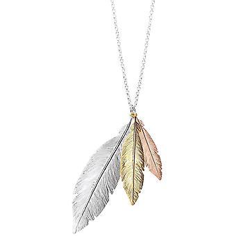 Bella drie Toon Feather Drop hanger - Oplosser/goud/Rose Gold