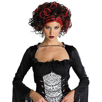 Wig For Wicked Widow Black/Red
