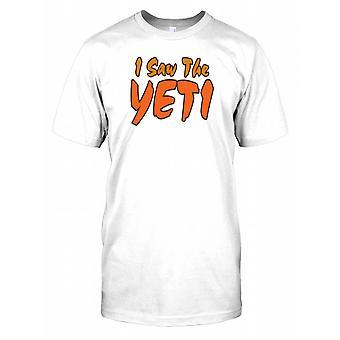 Jeg så Yeti - konspirasjon Mens T-skjorte