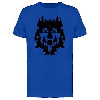 Wilder Wolf T-Shirt Herren-Bild von Shutterstock