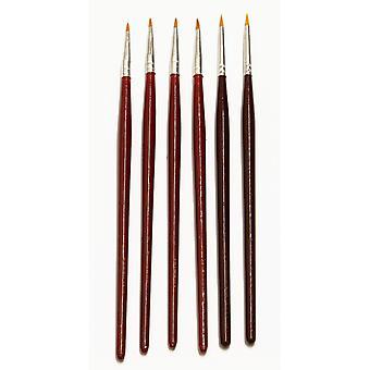 Major Brushes Fine Detail Brush Set of 6