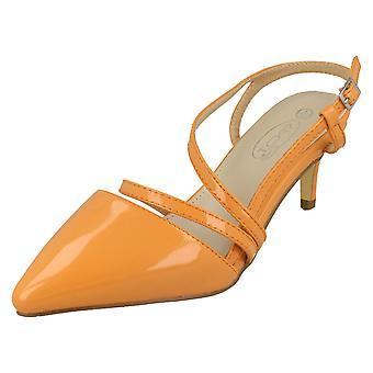 Damen-Punkt auf Mitte Heel Patent Schuhe F90058