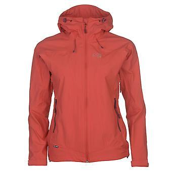 Millet Womens Fitz Waterproof Jacket Chin Guard Outdoor Breathable Full Zip Top