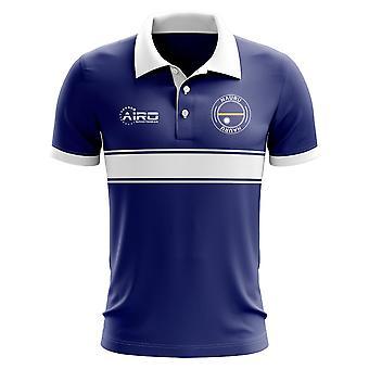 Nauru koncepcja koszula Polo z paskiem (Navy)