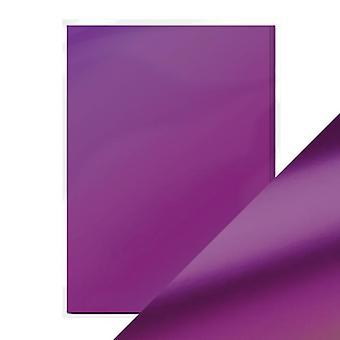 Craft Perfect a4 satin effekt speil kort lilla tåke tonic Studios