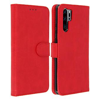 Flip wallet case, magnetic cover with stand for Huawei P30 Pro - Red