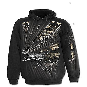 Spiral direkte gotiske bein SLASHER - Allover Hoody Black| AlloverPrint| Rips| Blade| Tribal