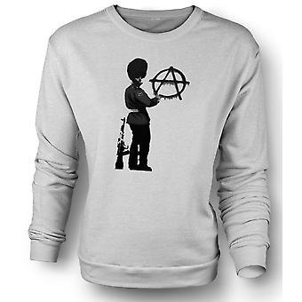 Womens Sweatshirt-Banksy-Graffiti-Kunst - Anarchy