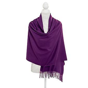 Eeuwige Collection Pashmina paars langwerpige zachte Polyester sjaal