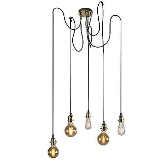 QAZQA Modern hanging lamp gold dimmable - Cava 5