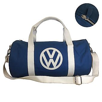 Official VW Canvas Holdall Sports Gym Bag - Blue