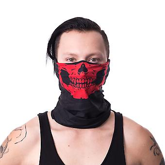 Poizen ind - skeleton mask hood snood