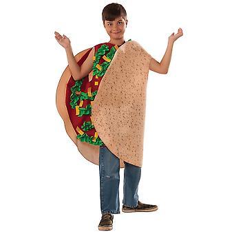 Fiesta Taco munchies Mexico Fast Food snel grappig boek week kind jongens kostuum