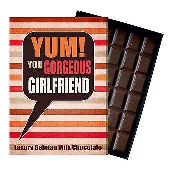 Gift for Lovely Girl Daughter Friend Luxury Boxed Chocolate Greetings Card Present for Women YUM115