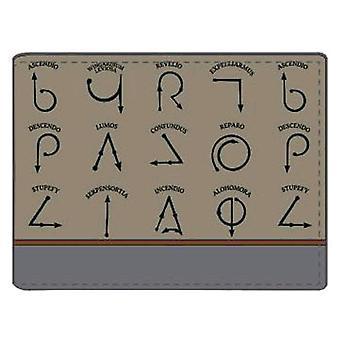 Harry Potter loitsu symbolit lompakko