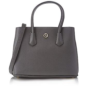 L.Credi 309-5920_33x25x14 cm (B x H x T) Bag with Grey Woman Handle (Grey) 33x25x14 cm (B x H x T)