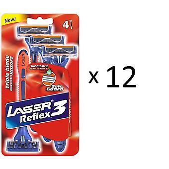 Tripple Blade scheermessen 48x Laser Reflex3 voor heren