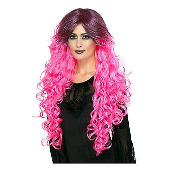 Womens Gothic Glamour pruik Fancy Dress accessoire