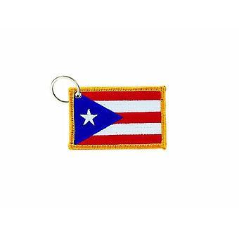 Cle Cles Key Brode Patch Ecusson Badge Bandiera Porto Rico