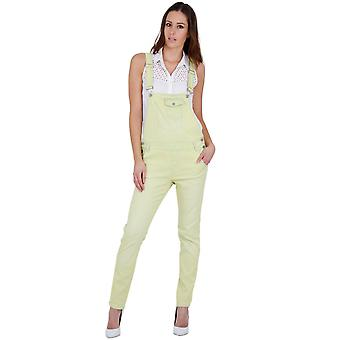 Womens lightweight dungarees - yellow