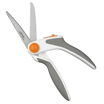 Fiskars Razor Edge Easy Action Soft Grip Scissors, Stainless Steel, 24 cm