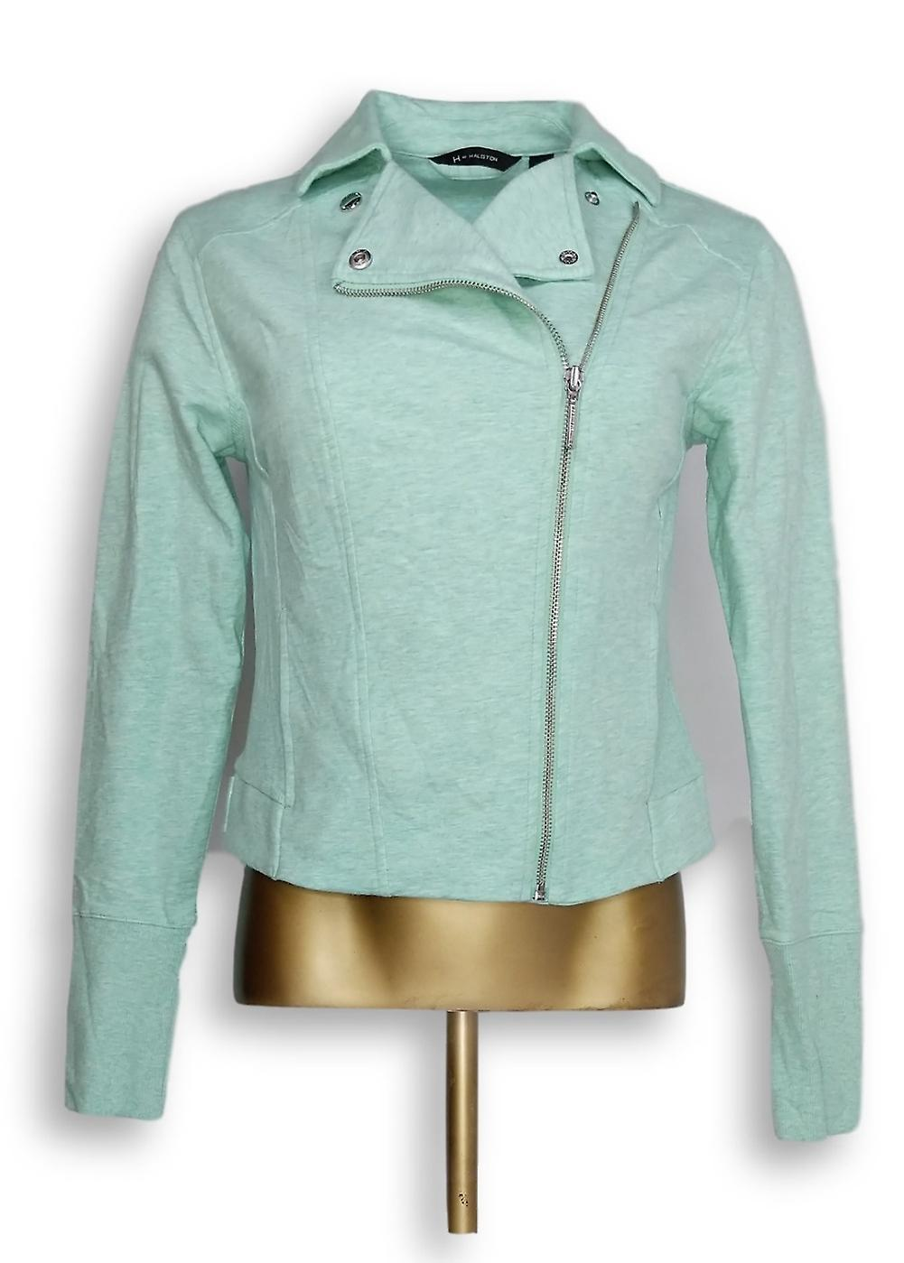 H by Halston Women's French Terry Motorcycle Jacket Green A285191