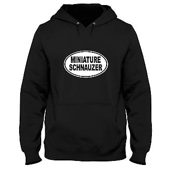 Black man hoodie fun2507 miniature schnauzer oval