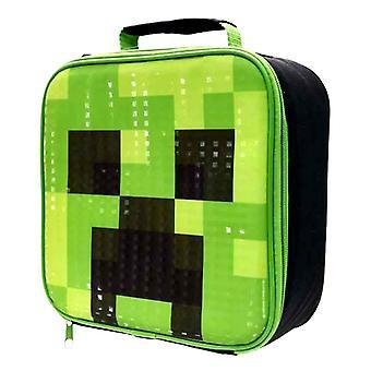 Minecraft Creeper Soft Lunch bag Lunchbox storage bag 23x23x8cm