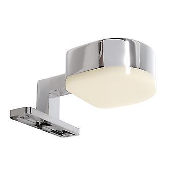 Luz espejo LED Gienah 3.2W 3000K B 88.5mm plata óptica cromada