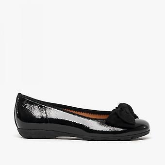 Gabor redshank dames lederen ballerina schoenen zwart