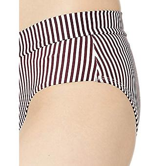 Body Glove Women's Retro High Rise Bikini, Wind of Change Stripe, Size Medium