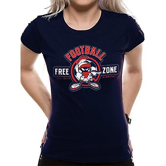 Looney Tunes-Anti-Football T-Shirt, as mulheres
