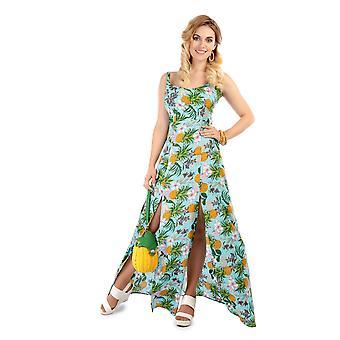 Collectif Vintage Long Tropical Hawaiian Maisie Maxi Dress