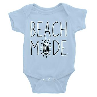 365 Printing Beach Mode Baby Bodysuit Gift Sky Blue Infant Jumpsuit Baby Gift