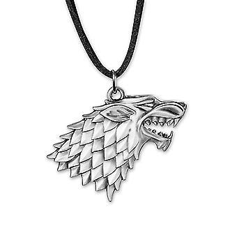 Game of Thrones halskæde logo stærkt materiale: metal, med læder snor til ophængning.