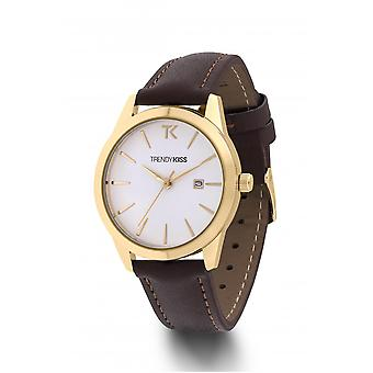 Watch Trendy Kiss TG10120-01 - watch brunette Brown and gold woman