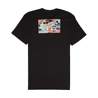 Billabong sterven gesneden korte mouw T-shirt in zwart