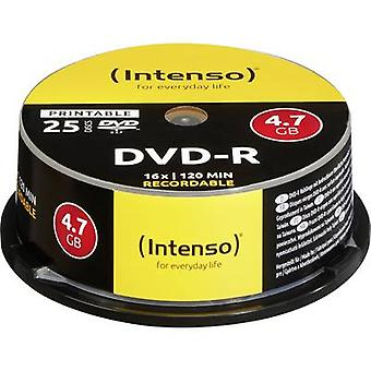 Intenso 4801154 tom DVD-R 4,7 GB 25 PC (er) spindel utskriftsvennlig
