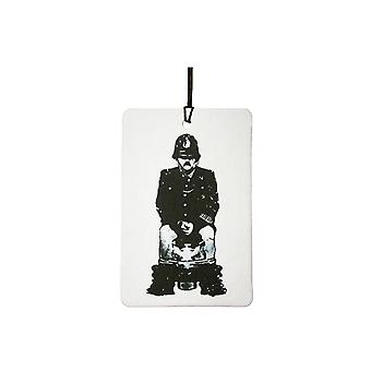 Banksy Copper On Toilet Car Air Freshener