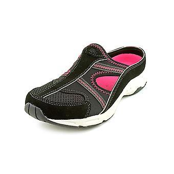 Espírito fácil Womens ARORA couro redondo Toe Slide Flats