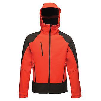 Regatta x-pro men's powergrid 3 layer hooded softshell jacket tra682