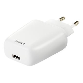Wall charger, 3A / 15W, 1xUSB-C, white