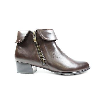 Canal Grande Bruna Brown Leather Womens Heeled Ankle Boots