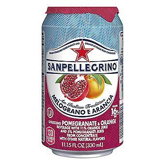 San Pellegrino Pomegranite Orange Cans -( 330 Ml X 24 Cans )