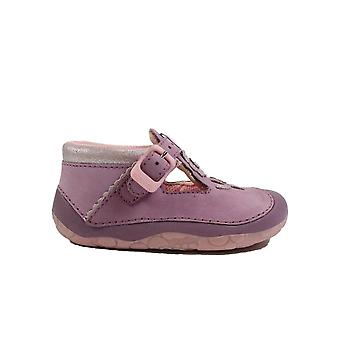 Startrite Maisy lila Leder Mädchen T Bar Pre Walker Schuhe
