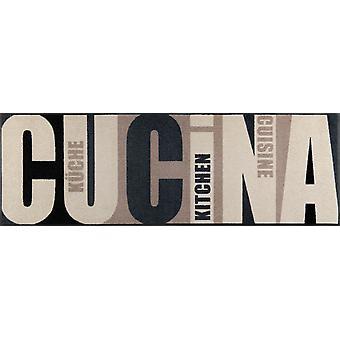 Waschbare wash+dry Fußmatte Cucina pura 60 x 180 cm Küchenteppich