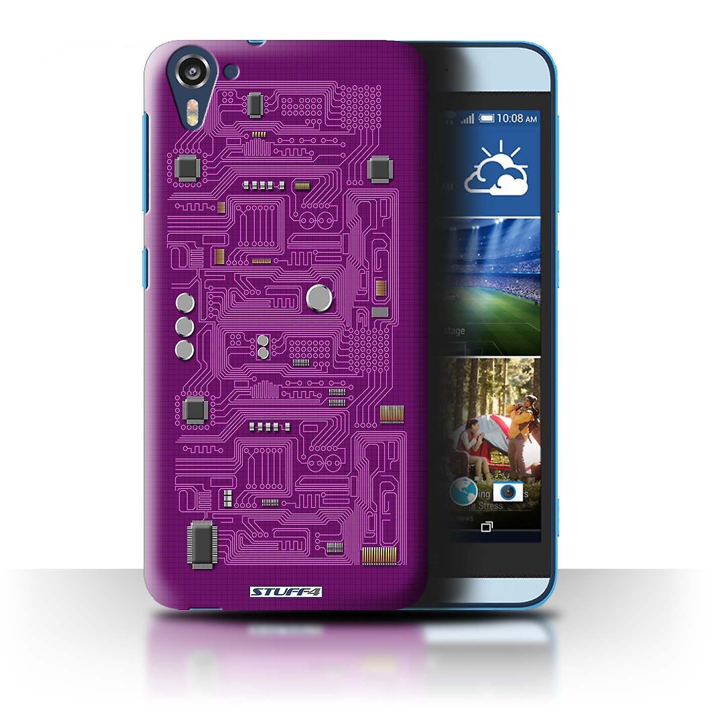 Stuff4 Case  Cover For Htc Desire 826  Purple  Circuit Board
