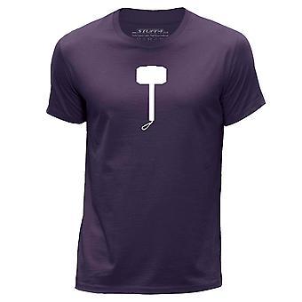 STUFF4 Men's Round Neck T-Shirt/Thor Hammer Inspired/Purple